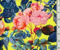 Nylon personnalisée de gros de superbes roses Spandex tissu imprimé de maillots de bain