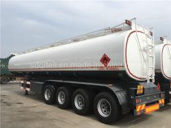 Les essieux 3/4 42000/45000/50000/60000 litres d'huile/carburant/diesel/essence//eau/lait brut Transports réservoir en acier/camion citerne semi-remorque