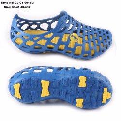 Jardin en caoutchouc bleu EVA Holey Clog Holey chaussure de mousse moulée par injection