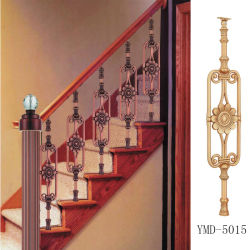 Aço inoxidável da alta qualidade, liga de alumínio européia do magnésio, coluna luxuosa do Guardrail da escadaria