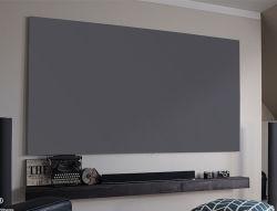 HD-серого цвета серебристый ткань неподвижной рамкой проектор проекционного экрана 3D