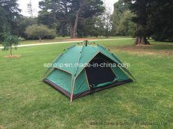 Poliéster impermeable portátil al aire libre Camping Carpa con capas dobles