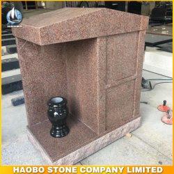 De style américain de matériel de granit rose pour les Monument Vermillion