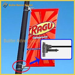 Poste de luz de la calle de aluminio titular de la pantalla de publicidad (BS-BS-008)