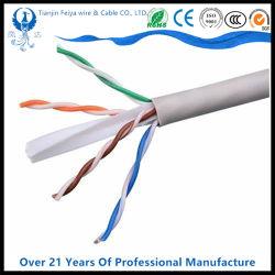 CAT6 UTP 23AWG Vernetzungs-Ethernet-Plenums-Kabel-im Freien/Innen305m letzte Plattfisch-Prüfung des LAN-Kabel-Hersteller-reines Copper/CCA 0.57