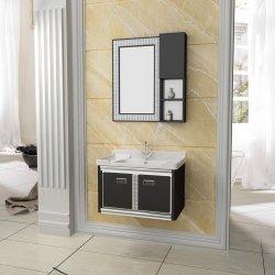 Montado na parede de aço inoxidável para casa de banho privada moderna mobília de armazenamento