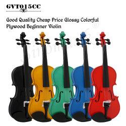 preço de fábrica de instrumentos musicais colorida 4/4 Violino violino