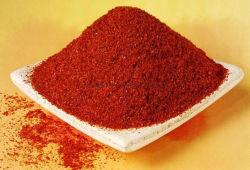 Qualidade superior de pimenta vermelha quentes e secas em pó em caixa de cartão