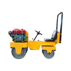 Mini Vibrador andando detrás de paseo en el tambor Road Roller