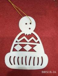 Escultura em madeira de pequenas embarcações artesanais decoração pendurar Dom para ornamento de Natal
