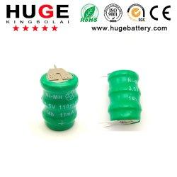 3.6V de navulbare Batterij van de Cel van de Knoop Ni-MH (Ni-MH)