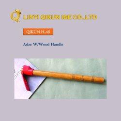 H-45 Ferramentas Manuais de Hardware de construção Quadrada Pega de madeira Adze