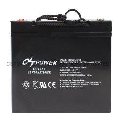 Commerce de gros 12V 50Ah MF à cycle profond Batterie au gel de l'énergie solaire de l'ONDULEUR