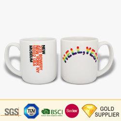 New Bone China High Quality Custom Logo sublimazione calore di stampa Trasferire la coppia di gres porcellanato tazza di porcellana Bianco lucido liscio Glossy Glassed caffè Tazza in ceramica per birra al tè