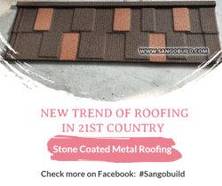 Прямой регистрации цен на заводе алюминия цинка стальной кровельных листов цветной металл с покрытием из камня остаются черепичной крышей Sangobuild Китая