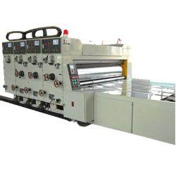 Halbautomatische gewölbte Karton Flexo Drucken-Maschine