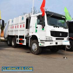 Bandeja compactadora de residuos de elevador hidráulico de compresión de la Papelera de basura camión