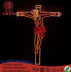 Привели Иисуса стиле веревки мотивы для освещения рождественские украшения для установки вне помещений