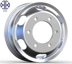 Alumínio Brilhante Caminhão de Despejo de autocarro liga de reboque 22,5X9.00 Forjadas polido aros de roda