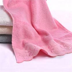 Rose Estilo Jacquard toalha Toalha de banho de fibra de bambu acetinado