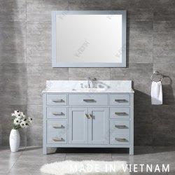 Best Seller accesorios de madera maciza acabado en gris cuarto de baño