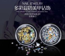Haste de metal de vendas quente autocolantes Arte Rhinestones para decoração de unhas