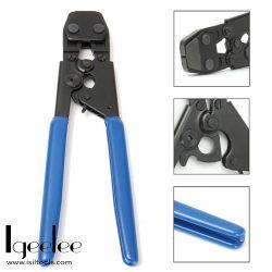 """Outil de sertissage Igeelee SS-T 5/8"""", 38"""", 1/2"""", 3/4"""", 1""""de colliers de serrage en acier inoxydable, outil de sertissage du tuyau de la main"""