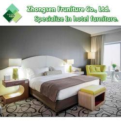 Personalização de design moderno de 5 estrelas luxuoso quarto de madeira escura para Dubai Sofitel Quarto de hotel