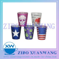 1.5Oz горячая продажа Shot стекла с различными видами низкая температура яркий декор порошка стеклянной посуды