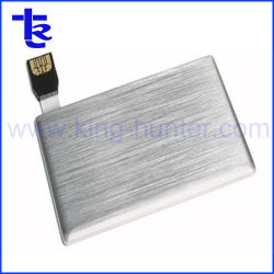 Tarjeta de metal plateado de la unidad flash USB Pen como regalo