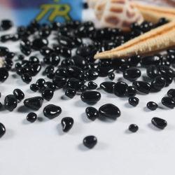 Noir en verre de galets de pierre de petite taille