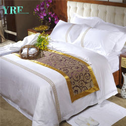 Yrf Hotel Bedsheet 100% Cotton Jacquard Fitted Sheet Wit Bed Sheet