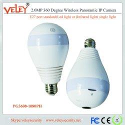 중국 360 도 파노라마 무선 전구 WiFi IP 사진기 Webcam