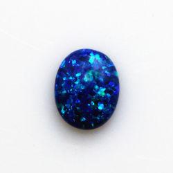 Venda a quente Synthetic Opal Gemstone oval azul posterior plana Opal Preço da Pedra