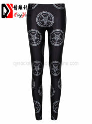 Les femmes des jambières Leggins Taille haute pour les filles décontracté de style Punk Slim goth rock crâne noir d'impression 3D UN Pantalon de style gothique de l'habillement Vêtements