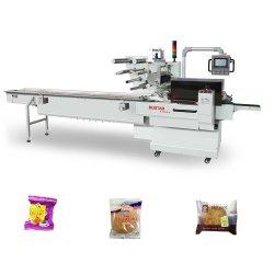 Nahrungsmittelmaschinerie-Imbiss-Nahrungsmittelplätzchen-Oblate-Biskuit-Verpackungsmaschine-automatische horizontale Fluss-Verpackung