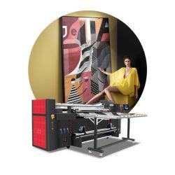 平面印字機2メートルのデジタル大きいフォーマットのインクジェットLEDの紫外線プリンターを転送するおよびロール