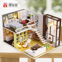 Hölzernes Spielzeug-Puppe-Haus mit Möbeln als pädagogischem Spielzeug/nettem Spielzeug des Raum-Toy/DIY