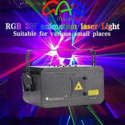 Discoteca della fase calda vendendo la stessa luce laser di RGB 2W di stile (versione GA-638-RGB2000A di economia)