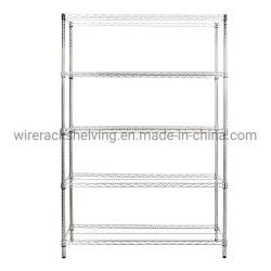 Scaffalatura per cavi di stoccaggio per impieghi pesanti cromati a 5 livelli