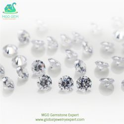 Highqualityの韓国Machine In1.00-1.50mm Wax Casting CZ/Cubic Zirconia StoneとのWhite Colour Round Shape CutのMGO Global Gems Factory