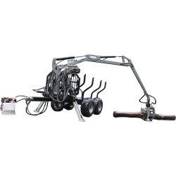 ATVの材木のトレーラー/ログのトレーラー/製材トレーラークレーン