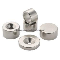 Magnete al boro in ferro al neodimio permanente NdFeB svasato