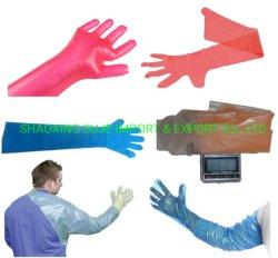 Gants à usage vétérinaire PE coloré long pour un usage animal