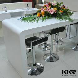 Conception simple de l'acrylique Surface solide Salon Table comptoir de réception