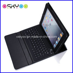 Drahtloser Bluetooth Tastatur-Tablette-Leder-Kasten für Apple iPad Luft