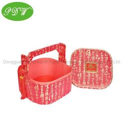 Pdwpacking_custom ODM OEM estilo chinês Fashion dom de embalagens de caixas de Alimentos da Cesta de papel para meados de Outono