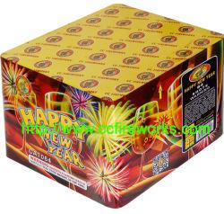 """1"""" 64s Feliz Año Nuevo tortas de fuegos artificiales (CA7064)"""