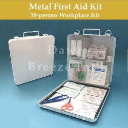 金属のオフィスの自動車のための緊急の医学の救急箱ボックス