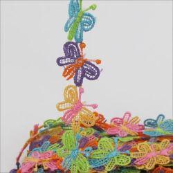 Butterfly Dentelle multicolore de fraisage, Petite Fleur dentelle, Koronka Daisy Purpurowy Gipiurowa